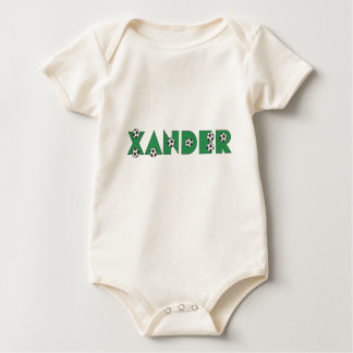 Xander in Soccer Green Baby Bodysuit