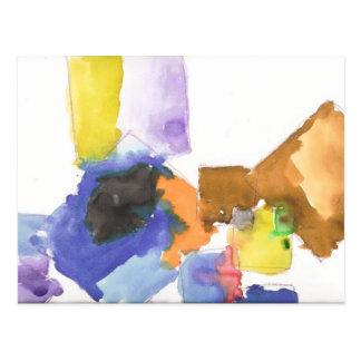 "xaNdeR's ""Watercolor Squares"" Postcard"