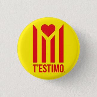 Xapa T'estimo Catalunya® 3 Cm Round Badge