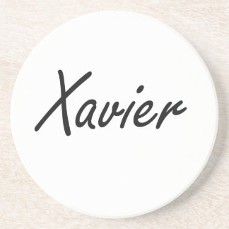 Xavier Artistic Name Design Beverage Coaster