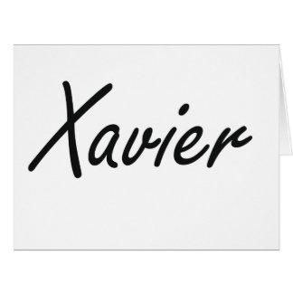 Xavier Artistic Name Design Big Greeting Card