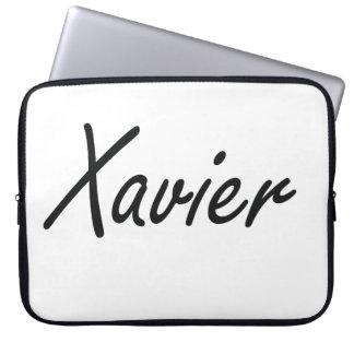 Xavier Artistic Name Design Computer Sleeve