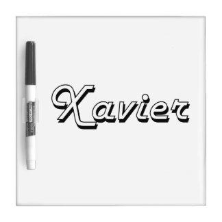 Xavier Classic Retro Name Design Dry-Erase Board