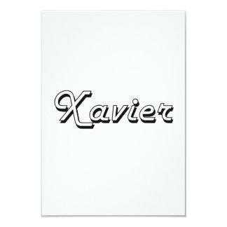 Xavier Classic Retro Name Design 3.5x5 Paper Invitation Card