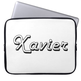 Xavier Classic Retro Name Design Laptop Sleeves