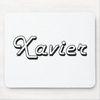 Xavier Classic Retro Name Design Mouse Pad