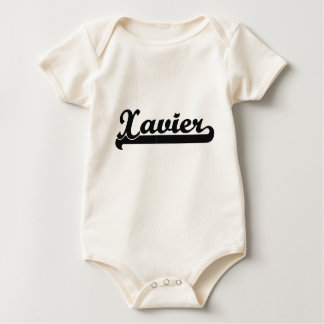 Xavier Classic Retro Name Design Rompers
