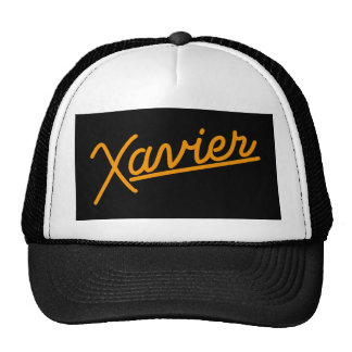 Xavier in orange cap