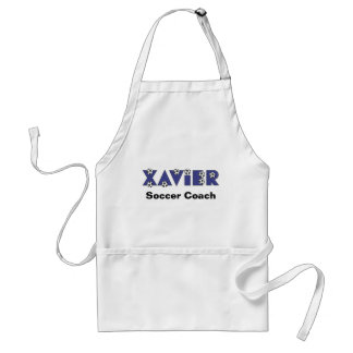 Xavier in Soccer Blue Adult Apron