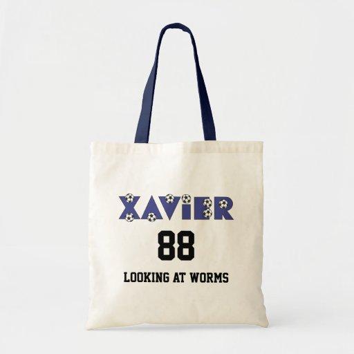 Xavier in Soccer Blue Bags