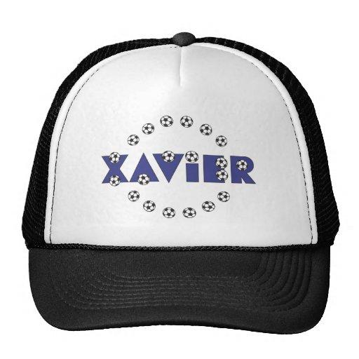 Xavier in Soccer Blue Mesh Hats