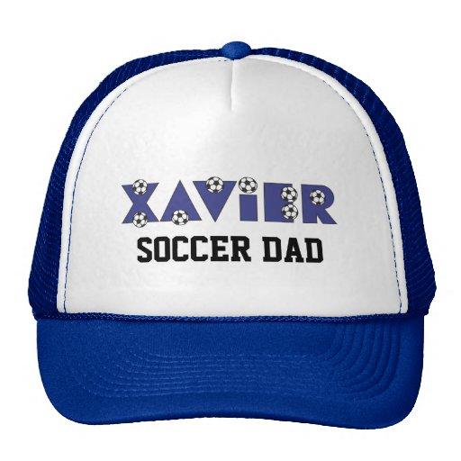 Xavier in Soccer Blue Hat