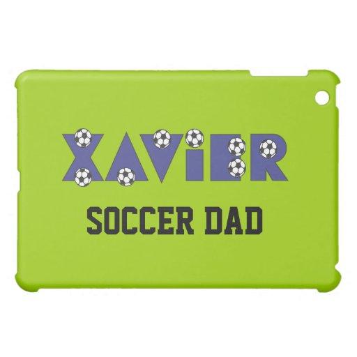 Xavier in Soccer Blue iPad Mini Cover