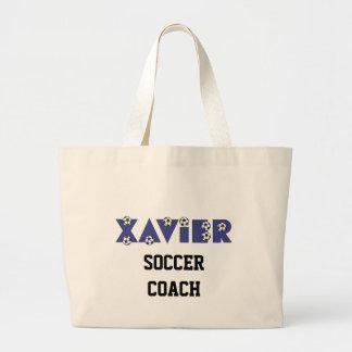 Xavier in Soccer Blue Jumbo Tote Bag