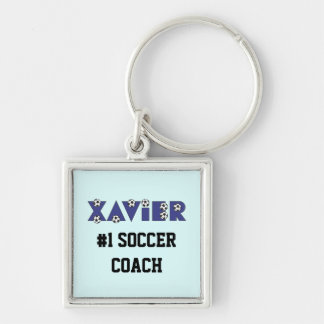 Xavier in Soccer Blue Key Chains