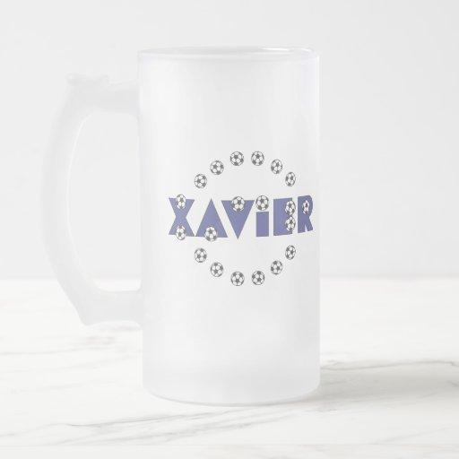 Xavier in Soccer Blue Mugs