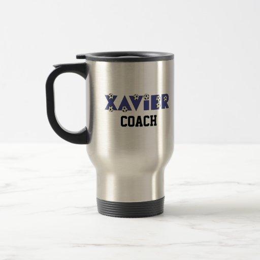Xavier in Soccer Blue Mug