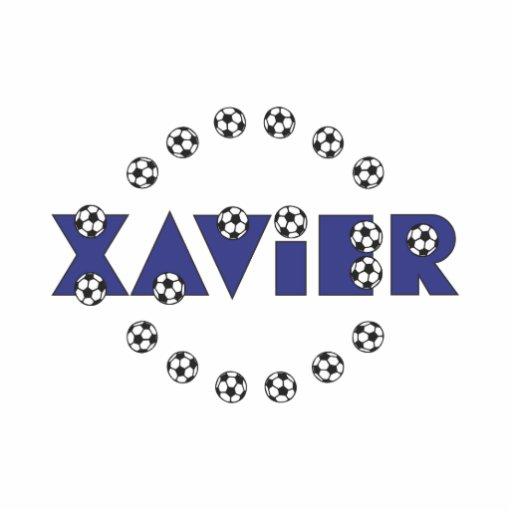 Xavier in Soccer Blue Photo Sculpture