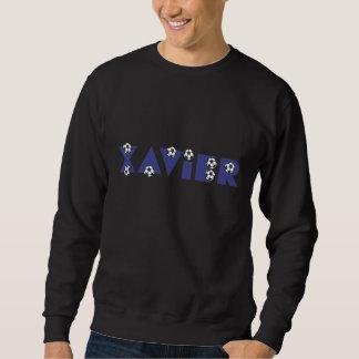 Xavier in Soccer Blue Pullover Sweatshirt