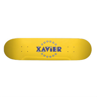 Xavier in Soccer Blue Skateboard Decks