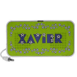 Xavier in Soccer Blue iPod Speakers