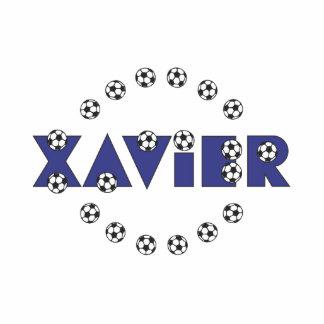 Xavier in Soccer Blue Standing Photo Sculpture
