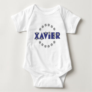 Xavier in Soccer Blue T-shirt