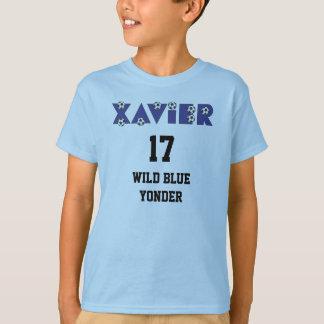Xavier in Soccer Blue Tees