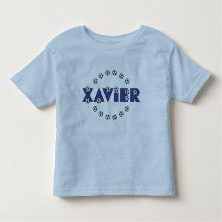 Xavier in Soccer Blue Toddler T-Shirt