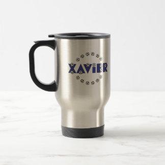 Xavier in Soccer Blue Travel Mug