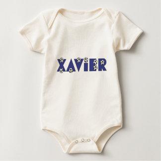 Xavier in Soccer Blue Baby Bodysuit