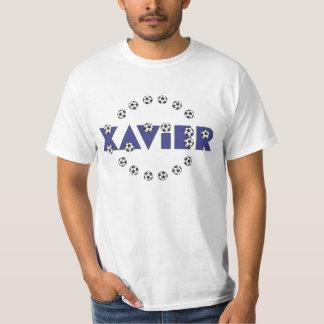 Xavier in Soccer Blue Tshirts