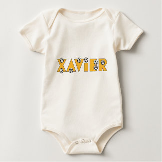 Xavier in Soccer Gold Baby Bodysuit