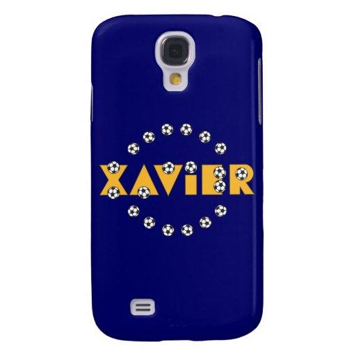 Xavier in Soccer Gold Samsung Galaxy S4 Case