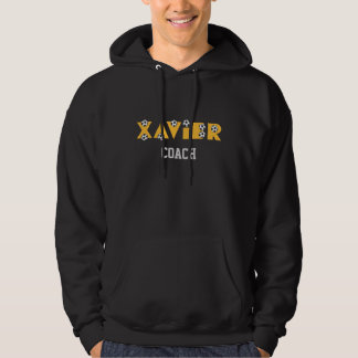Xavier in Soccer Gold Hoodie