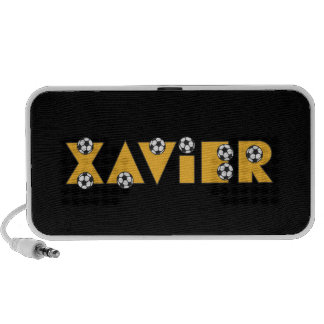 Xavier in Soccer Gold Travelling Speaker