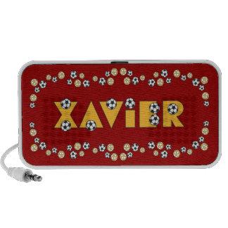 Xavier in Soccer Gold iPod Speakers