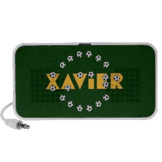Xavier in Soccer Gold Travel Speakers