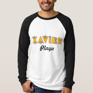 Xavier in Soccer Gold T-shirts