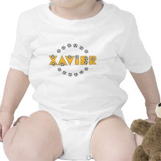 Xavier in Soccer Gold Romper