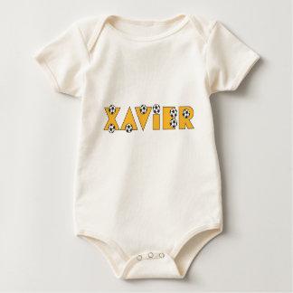 Xavier in Soccer Gold Baby Bodysuit