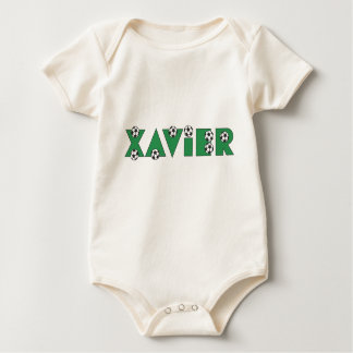 Xavier in Soccer Green Baby Bodysuit