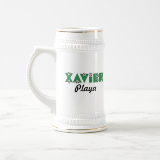 Xavier in Soccer Green Beer Steins
