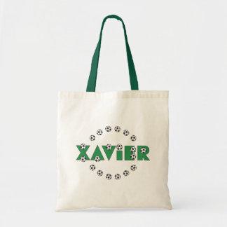 Xavier in Soccer Green Budget Tote Bag