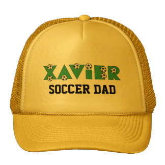 Xavier in Soccer Green Trucker Hat