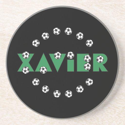 Xavier in Soccer Green Coaster