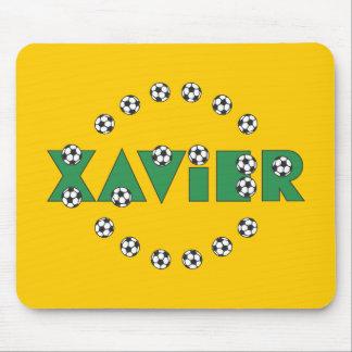 Xavier in Soccer Green Mousepads