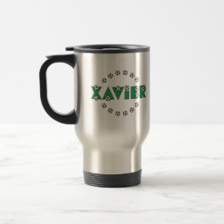 Xavier in Soccer Green Mugs