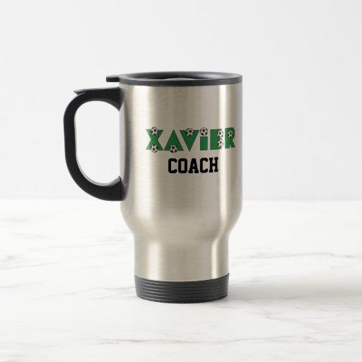 Xavier in Soccer Green Coffee Mug