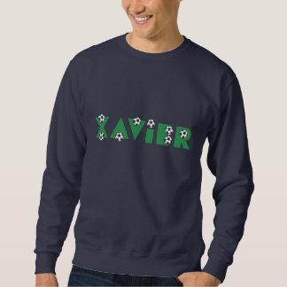 Xavier in Soccer Green Pullover Sweatshirt
